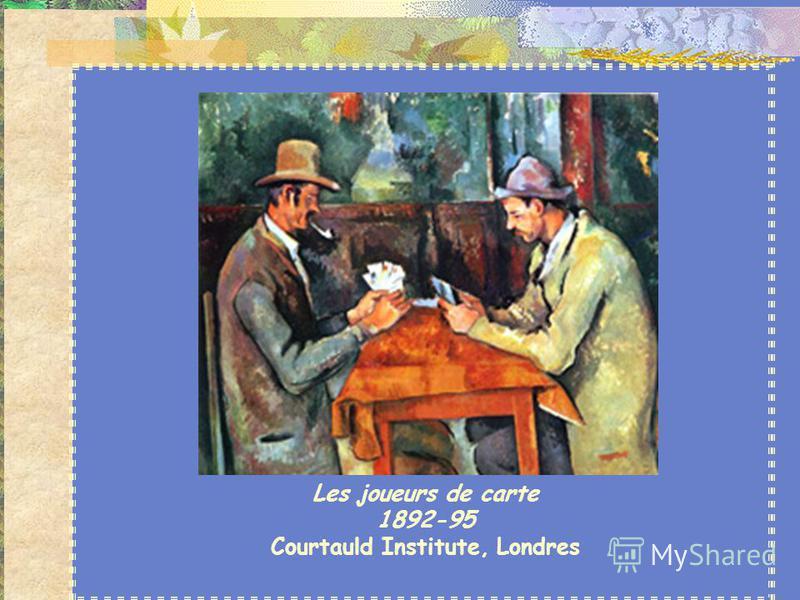 Paul Cézanne (1839-1906) Pratique d'abord la peinture en plein air, comme ses amis impressionnistes. Mais il ne veut pas sacrifier la forme aux changements atmosphériques, aux aspects passagers du soleil et de la lumière. Il attache une grande import