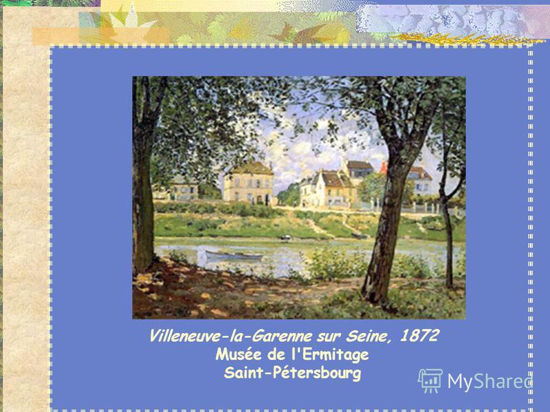 Alfred Sisley (1839-1899) - est un des paysagistes les plus remarquables de l'impressionnisme. Il peint les mêmes paysages à des moments différents de l'année pour étudier les changements de couleur, daspect et de forme que l'hiver et l'été apportent
