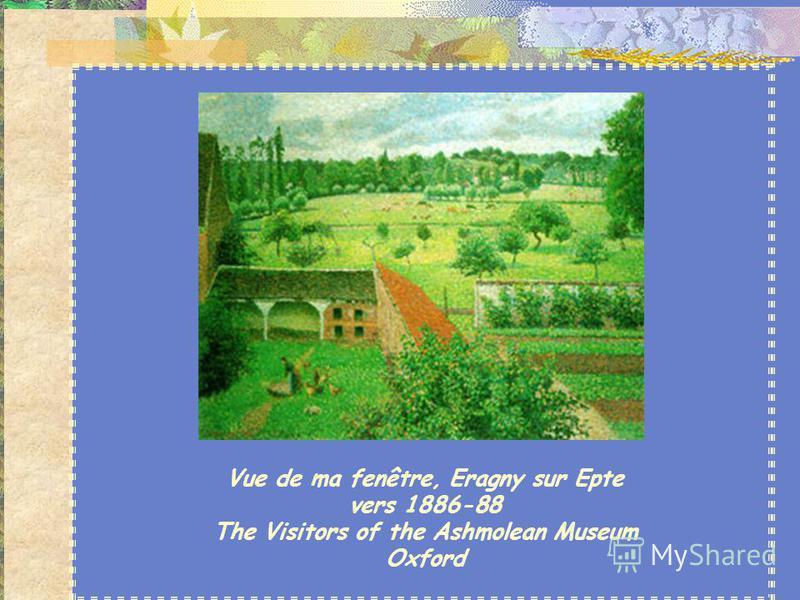 Camille Pissarro (1830-1903) Il peint d'abord les vergers et les villages normands. Puis il abandonne ces toiles aux couleurs sombres pour suivre les innovations de l'impressionnisme. Il est le peintre des paysages urbains. Ses tableaux Marchés à Rou