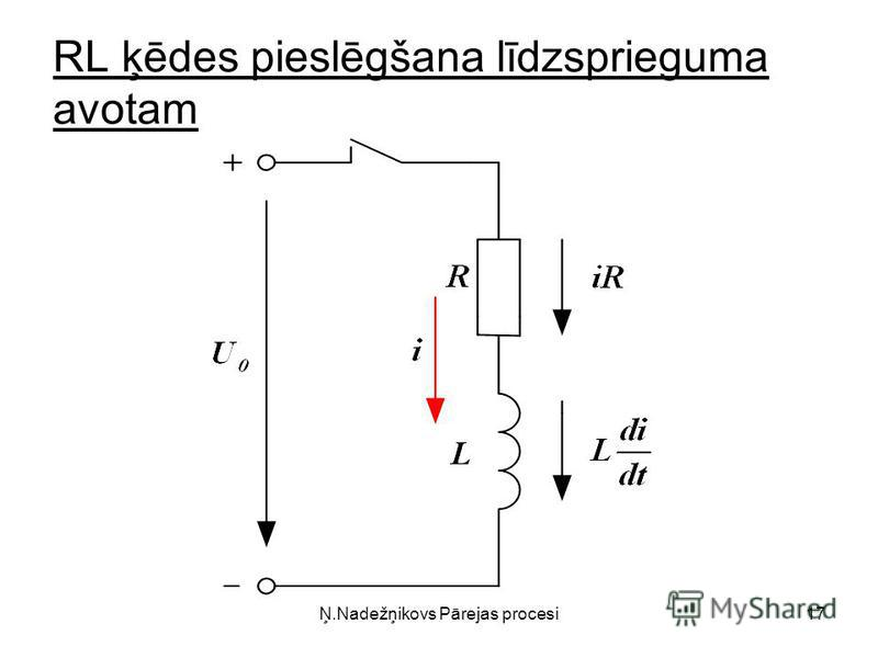 Ņ.Nadežņikovs Pārejas procesi17 RL ķēdes pieslēgšana līdzsprieguma avotam