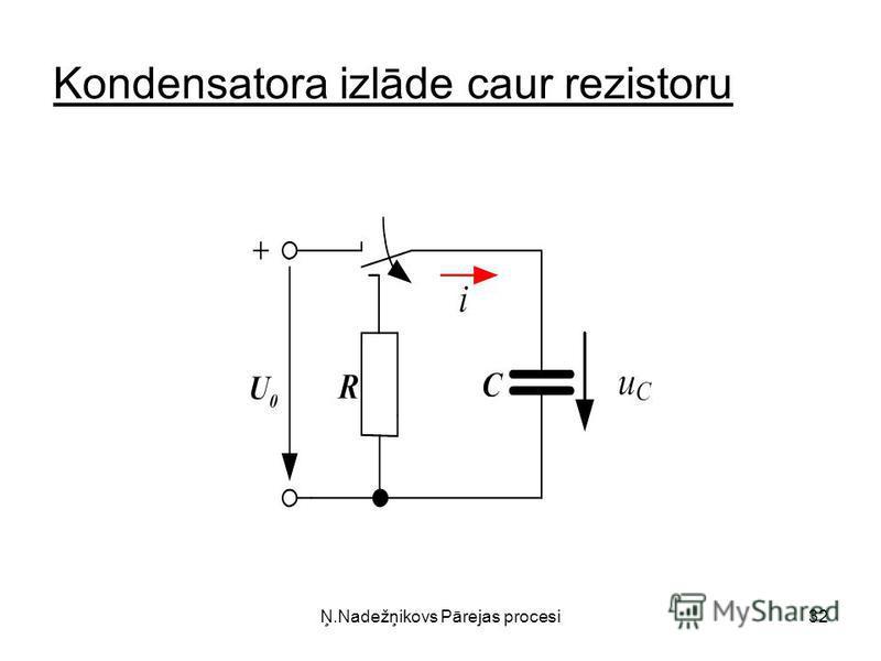 Ņ.Nadežņikovs Pārejas procesi32 Kondensatora izlāde caur rezistoru