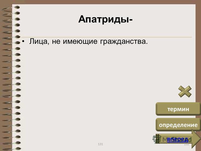 Апатриды- Лица, не имеющие гражданства. термин определение вперед 132131