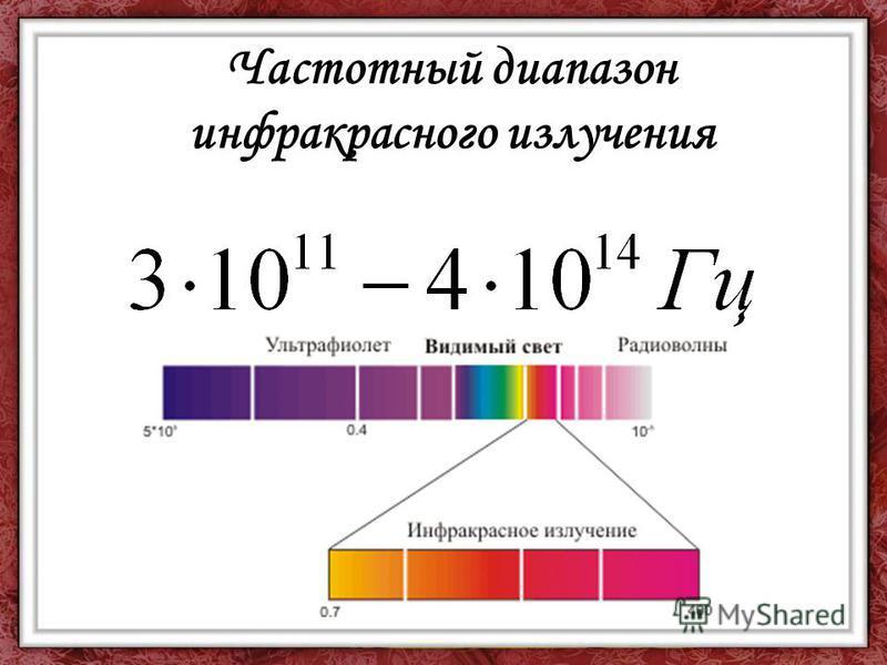 Частотный диапазон инфракрасного излучения