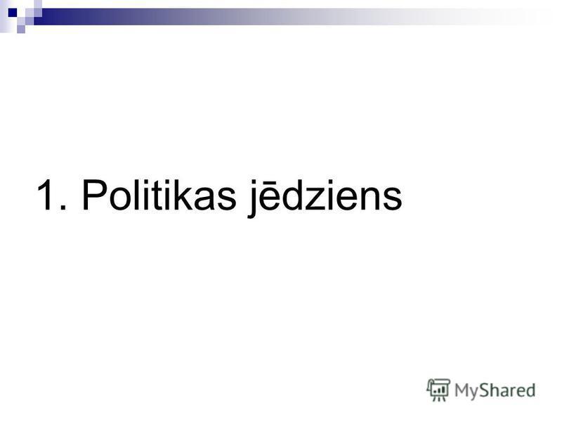 1. Politikas jēdziens