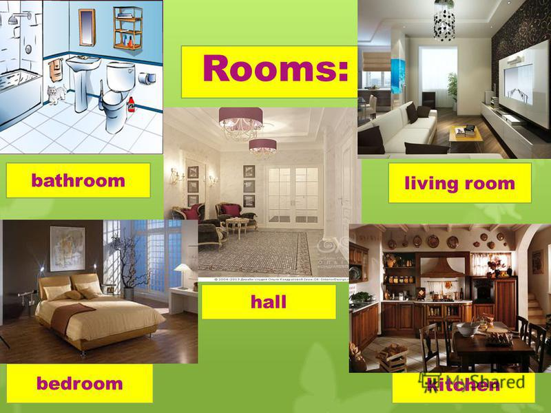 Rooms: bathroom bedroom hall living room kitchen