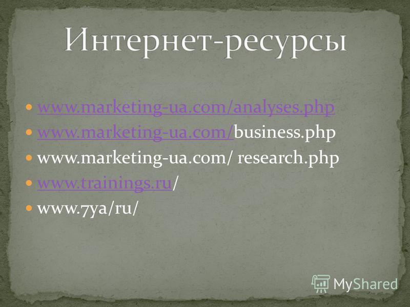 www.marketing-ua.com/analyses.php www.marketing-ua.com/analyses.php www.marketing-ua.com/business.php www.marketing-ua.com/ www.marketing-ua.com/ research.php www.trainings.ru/ www.trainings.ru www.7ya/ru/