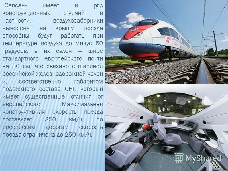 Российский современный поезд «Сапсан» получил свое название в честь самой быстрой птицы – сокола.