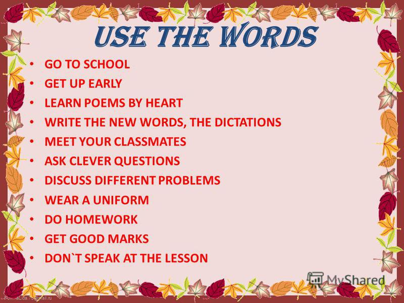 how to write a good poem for school