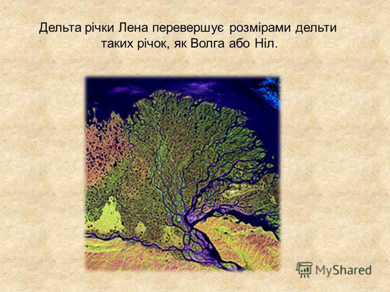 Дельта річки Лена перевершує розмірами дельти таких річок, як Волга або Ніл.