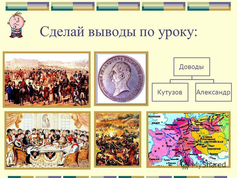 Сделай выводы по уроку: Доводы Кутузов Александр