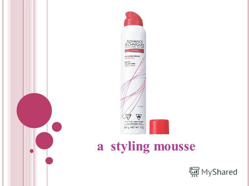a styling mousse