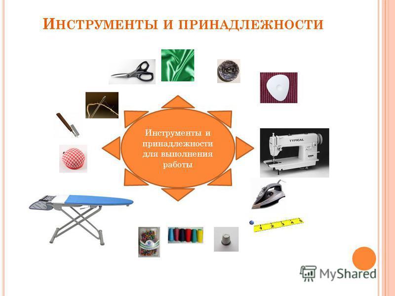 И НСТРУМЕНТЫ И ПРИНАДЛЕЖНОСТИ Инструменты и принадлежности для выполнения работы