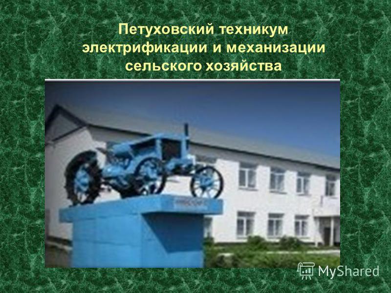 Петуховский техникум электрификации и механизации сельского хозяйства