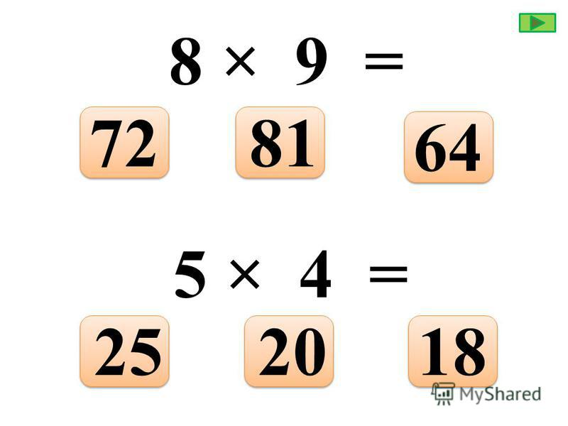 3 × 3 = 9126 9 × 4 = 323624