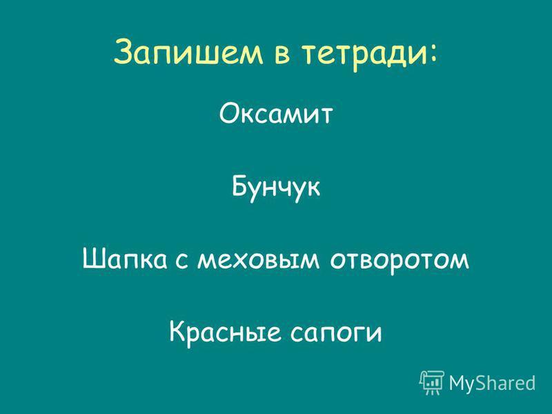 Запишем в тетради: Оксамит Бунчук Шапка с меховым отворотом Красные сапоги