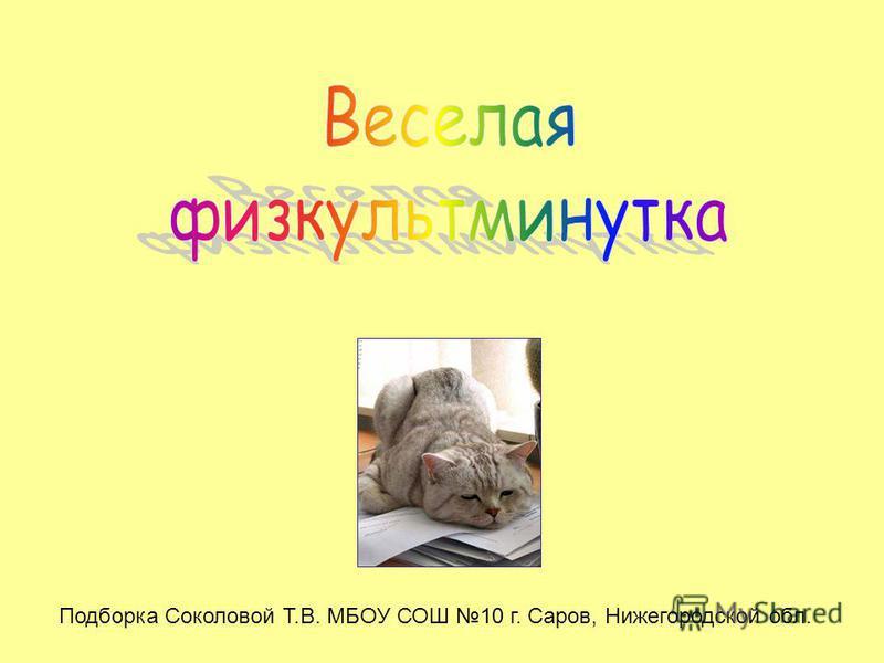 Подборка Соколовой Т.В. МБОУ СОШ 10 г. Саров, Нижегородской обл.