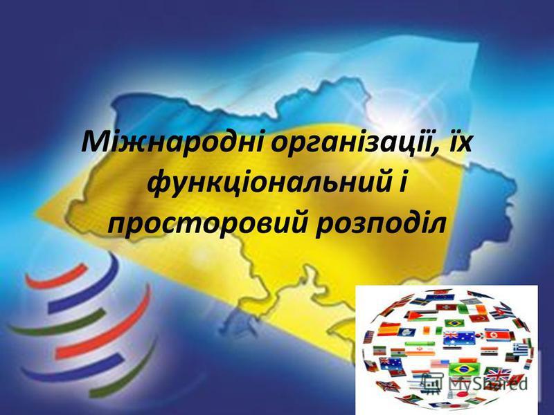 Міжнародні організації, їх функціональний і просторовий розподіл