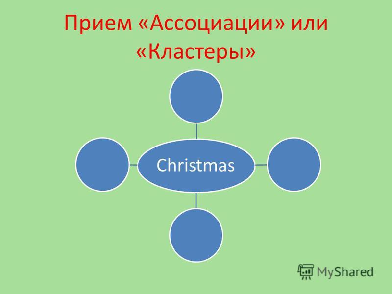 Прием «Ассоциации» или «Кластеры» Christmas