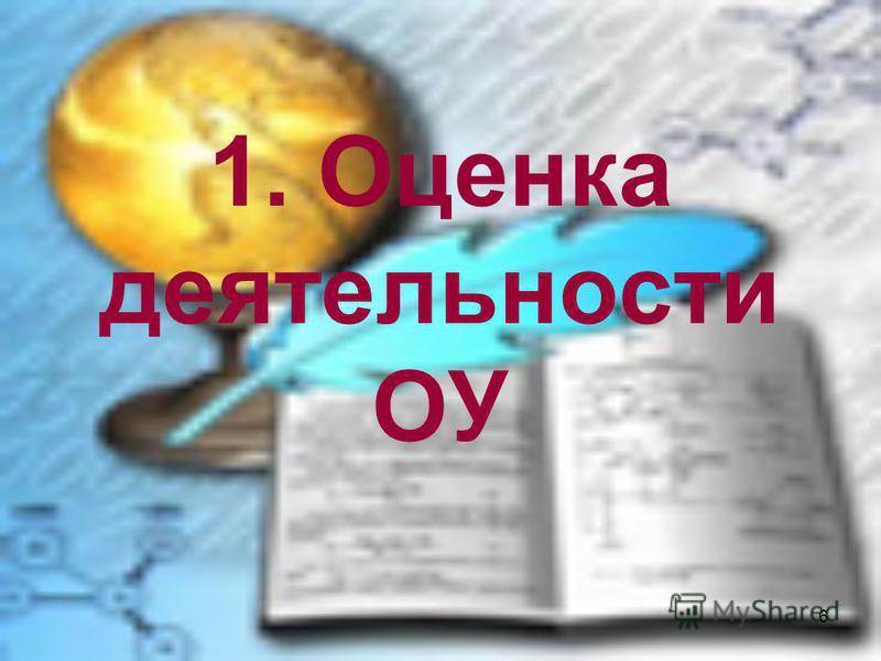 6 1. Оценка деятельности ОУ