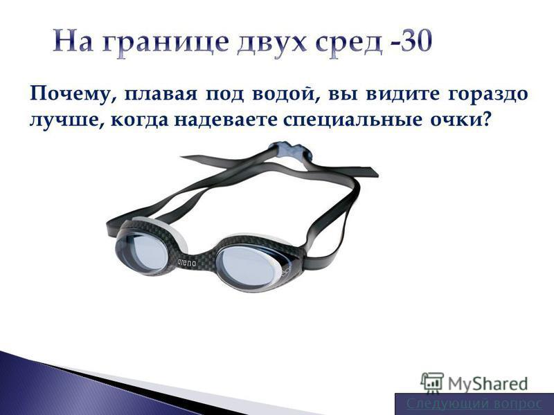 Почему, плавая под водой, вы видите гораздо лучше, когда надеваете специальные очки?