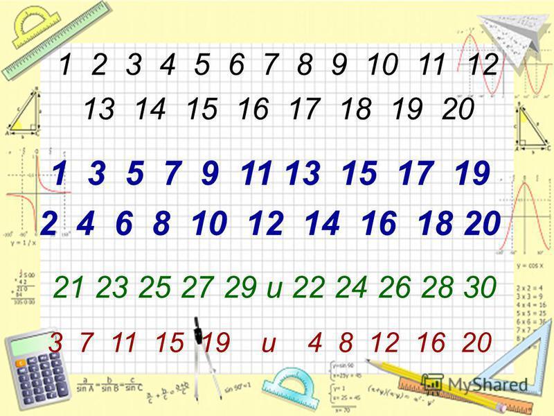 1 2 3 4 5 6 7 8 9 10 11 12 13 14 15 16 17 18 19 20 1 3 5 7 9 11 13 15 17 19 2 4 6 8 10 12 14 16 18 20 21 23 25 27 29 и 22 24 26 28 30 3 7 11 15 19 и 4 8 12 16 20