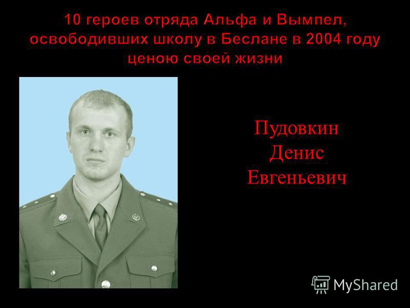 Пудовкин Денис Евгеньевич