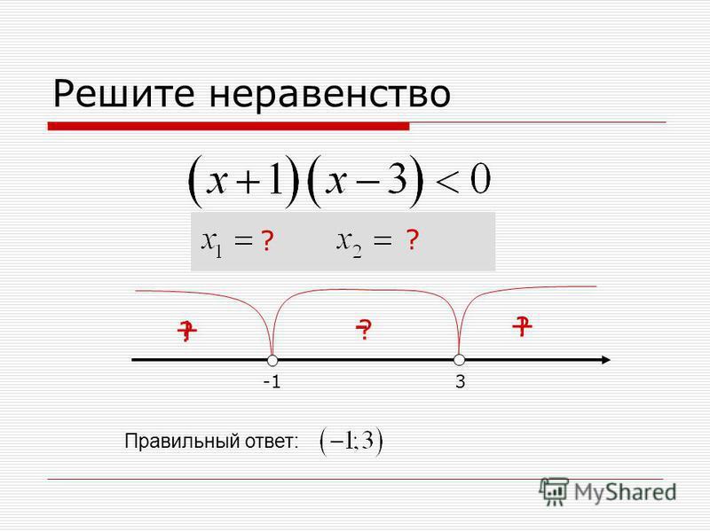 Решите неравенство 3 ? + ? - ? + Правильный ответ: ? ?