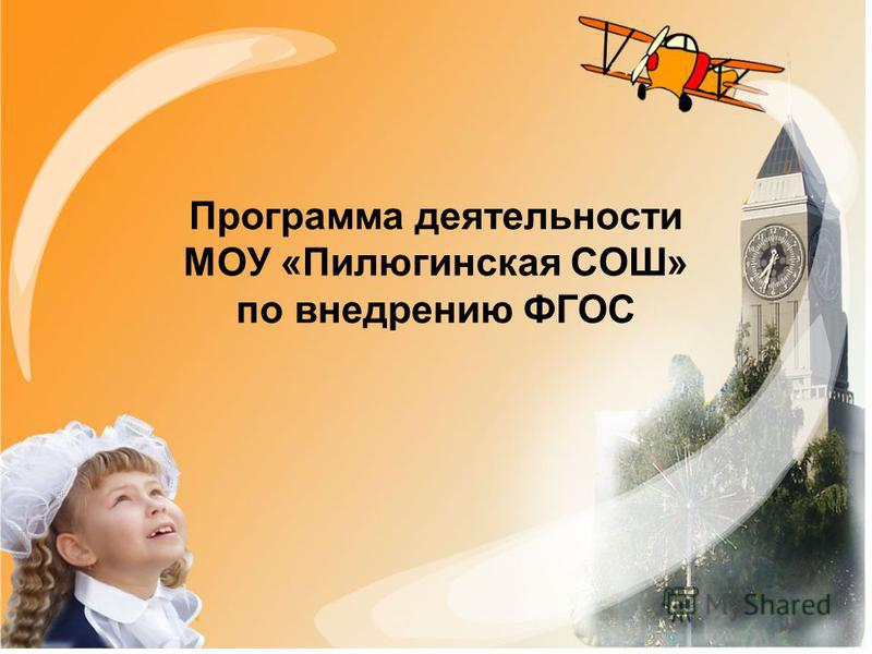 Программа деятельности МОУ «Пилюгинская СОШ» по внедрению ФГОС