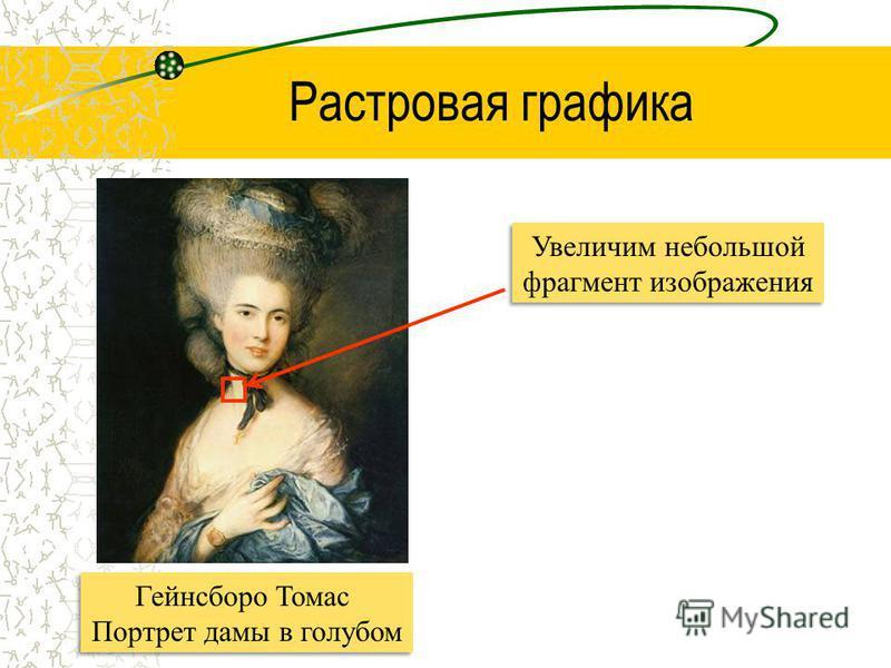 Увеличим небольшой фрагмент изображения Растровая графика Гейнсборо Томас Портрет дамы в голубом Гейнсборо Томас Портрет дамы в голубом