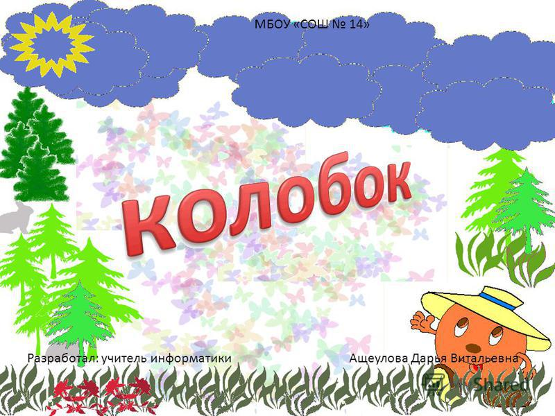 Разработал: учитель информатики Ащеулова Дарья Витальевна МБОУ «СОШ 14»