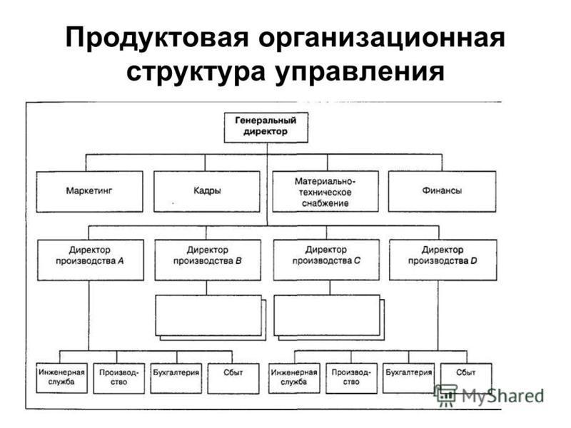 Продуктовая организмрационая структура управления