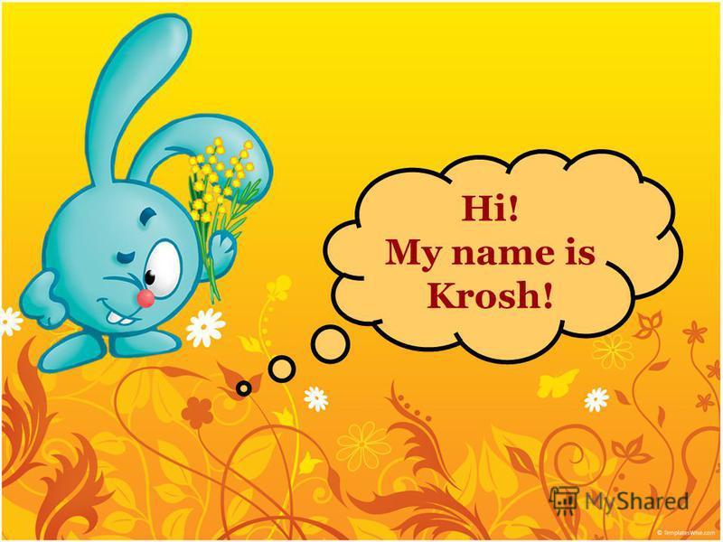 Hi! My name is Krosh!