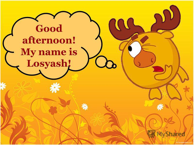 Good afternoon! My name is Losyash!