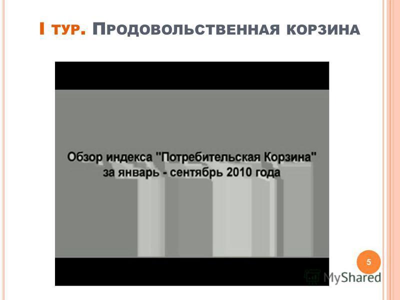 I ТУР. П РОДОВОЛЬСТВЕННАЯ КОРЗИНА 5