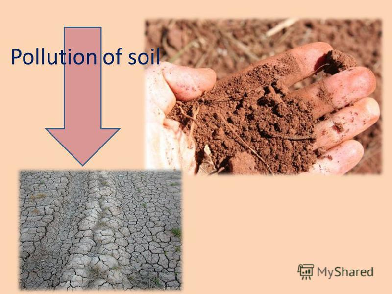 Pollution of soil
