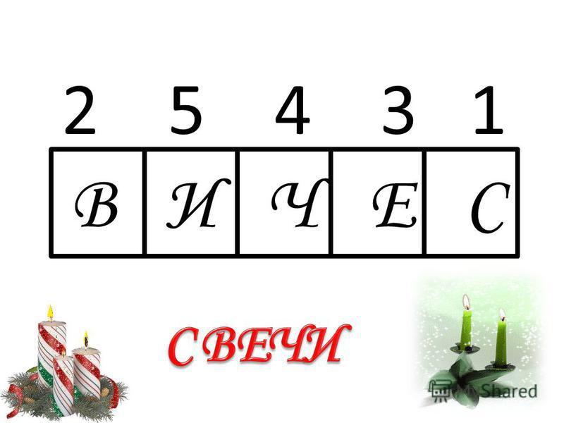 2 5 4 3 1 ввввВ В И Ч Е С