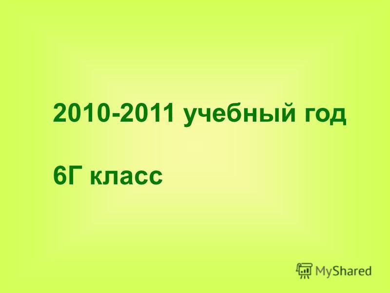 2010-2011 учебный год 6Г класс