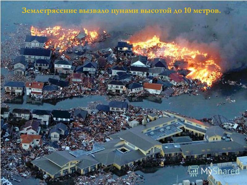 Землетрясение вызвало цунами высотой до 10 метров.
