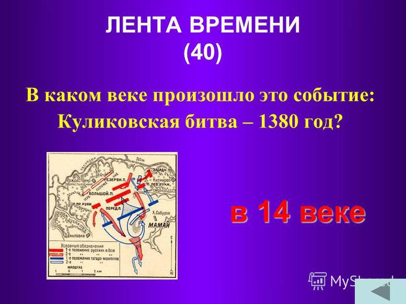 ЛЕНТА ВРЕМЕНИ (30) Как называется отрезок времени в 1000 лет? тысячелетие