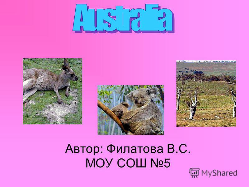 Автор: Филатова В.С. МОУ СОШ 5