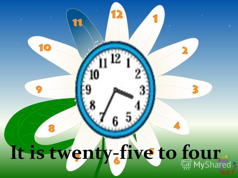 It is twenty-five to four