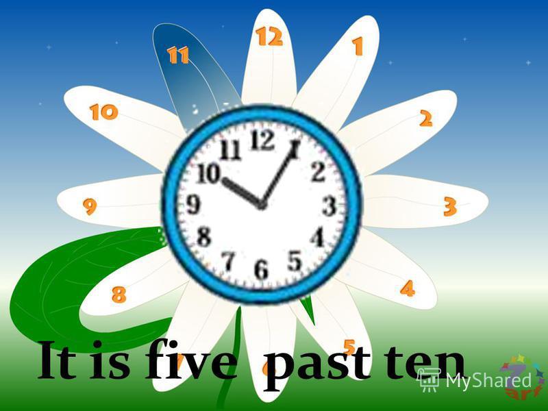 It is five past ten