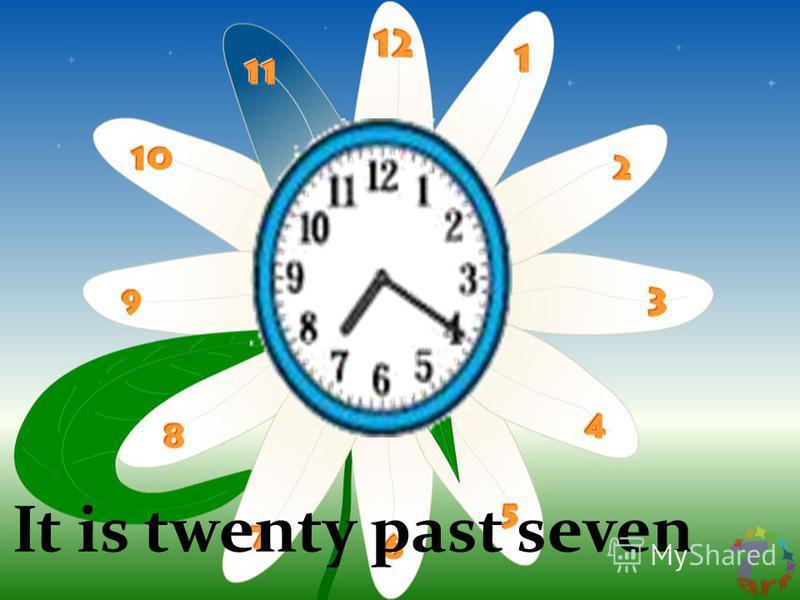 It is twenty past seven