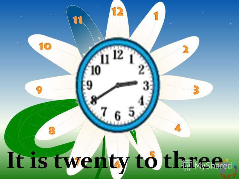 It is twenty to three