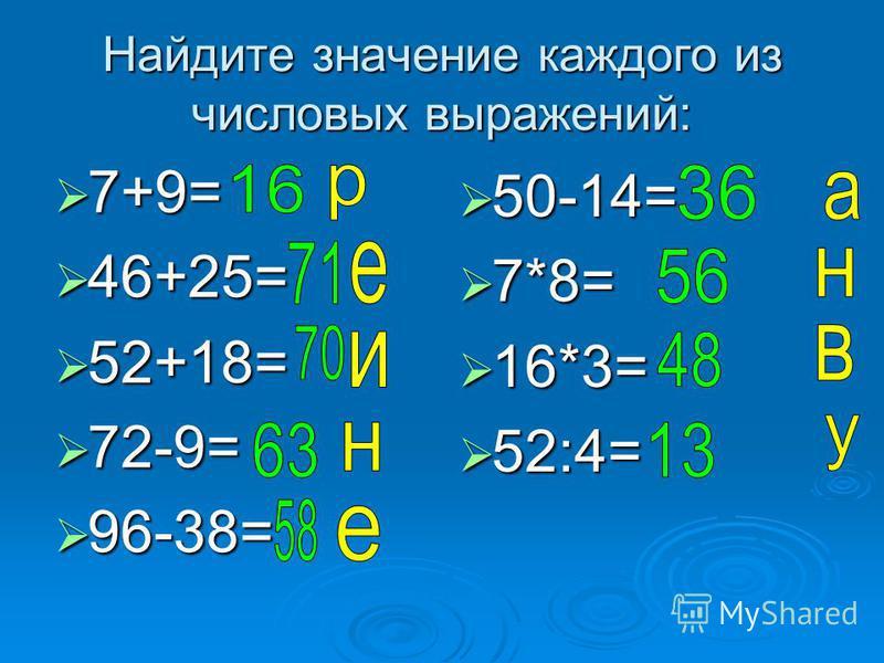 Назовите компоненты равенств: 7+3=10 7+3=10 7-3=4 7-3=4 6*2=12 6*2=12 6:2=3 6:2=3 (х+3)+5=12 (х+3)+5=12 40-(у+2)=4 40-(у+2)=4