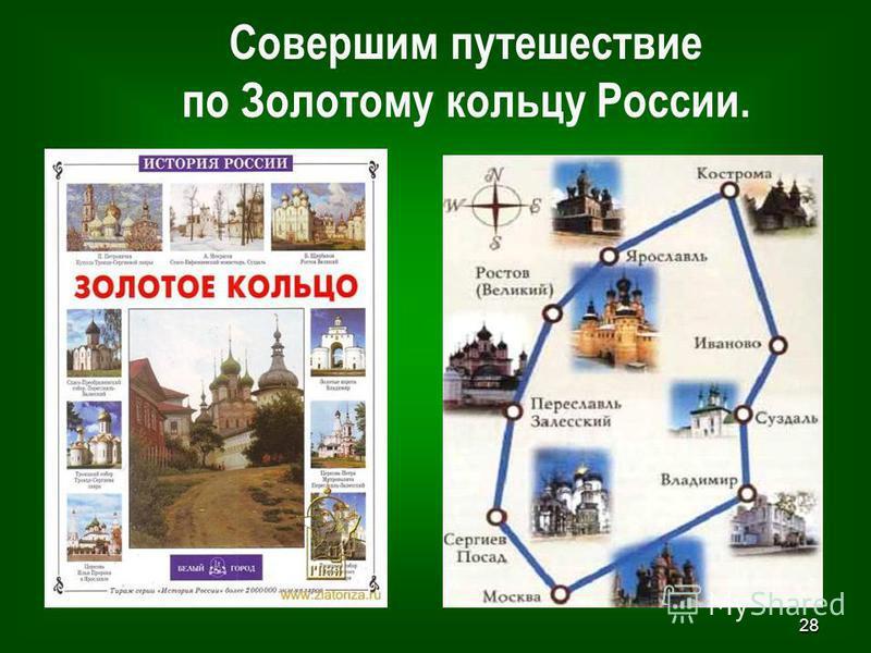 28 Совершим путешествие по Золотому кольцу России.