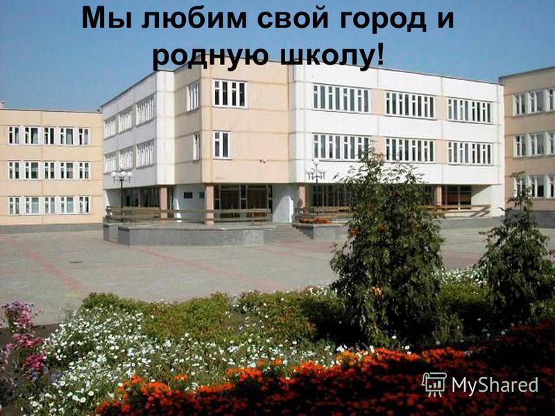 Мы любим свой город и родную школу!
