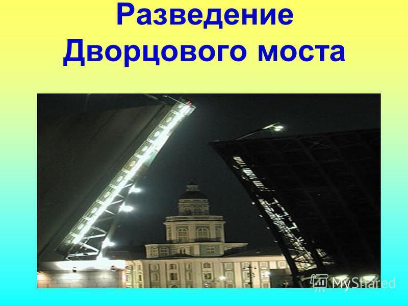 Разведение Дворцового моста