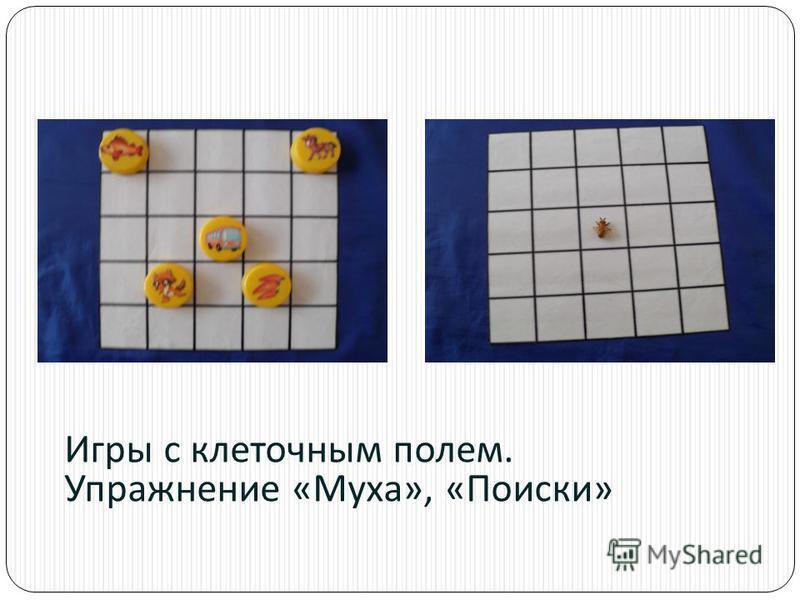 Игры с клеточным полем. Упражнение « Муха », « Поиски »