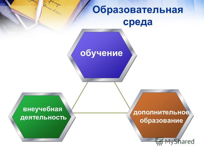 Образовательная среда обучение внеучебная деятельность дополнительное образование